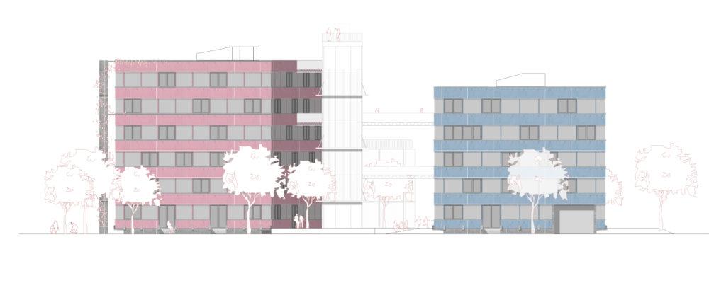 kooperative-grossstadt-wettbewerb-freiham-freihampton-ansicht-ost-giorno-architektur