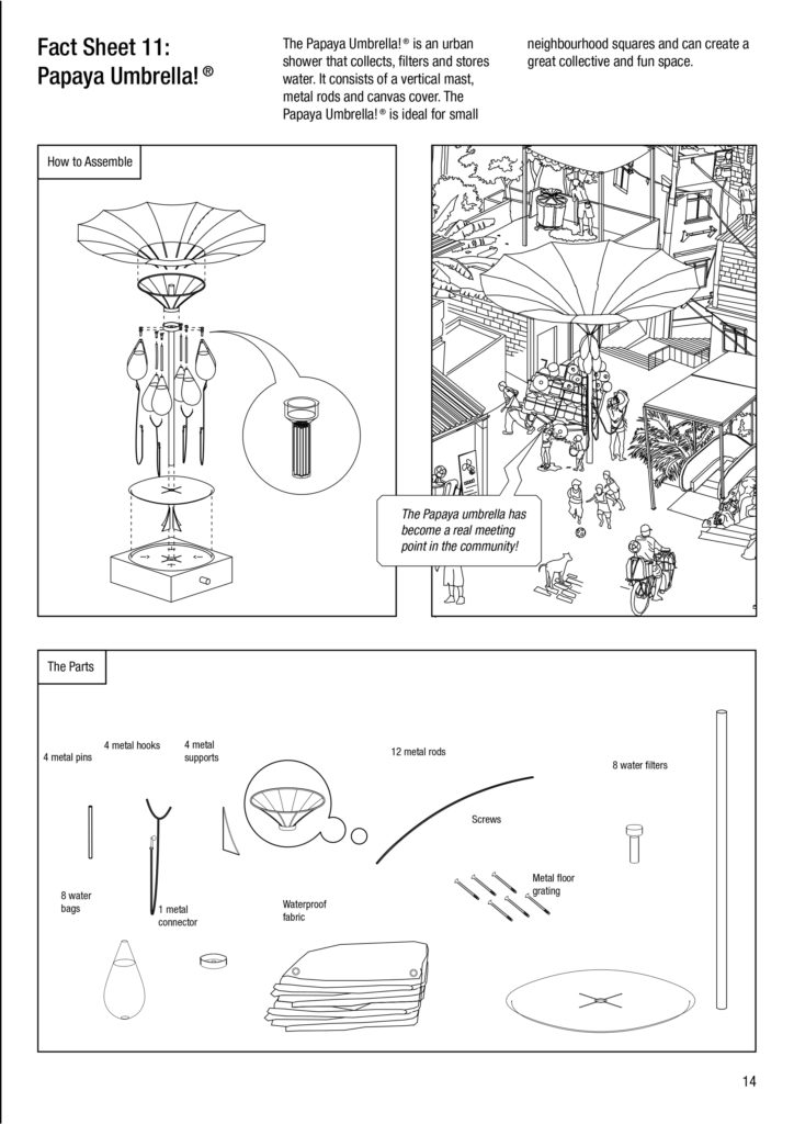 Picture shows manual how a public drinking water collector works in Rio de Janeiro Brazil